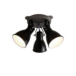 Stirrup Triple Ceiling Light, Black | Ceiling lights | Original BTC