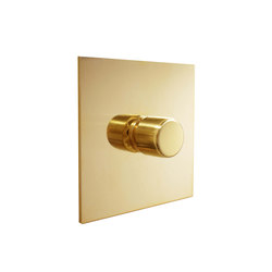 Unlacquered brass rotary dimmer | Rotary switches | Forbes & Lomax