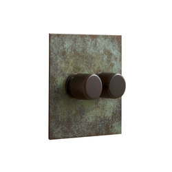 Verdigris two gang rotary dimmer | Interruttori manopola | Forbes & Lomax