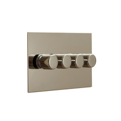 Nickel Silver four gang rotary dimmer | Interruttori manopola | Forbes & Lomax