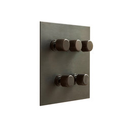 Antque Bronze five gang rotary dimmer | Interruttori manopola | Forbes & Lomax