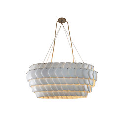Cranton Oval Pendant, Sand and Taupe Braided Cable | Suspensions | Original BTC