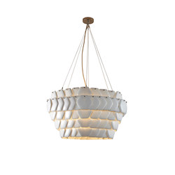 Cranton Hexagonal Pendant, Sand and Taupe Braided Cable | Suspensions | Original BTC