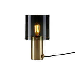 Walter Table, Brass, Size 2, Anthracite Glass | Table lights | Original BTC