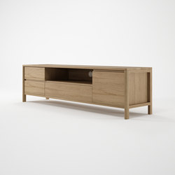 Circa17 MEDIA CABINET WITH TWO DRAWERS FLIP DOOR AND DOOR | Aparadores multimedia | Karpenter