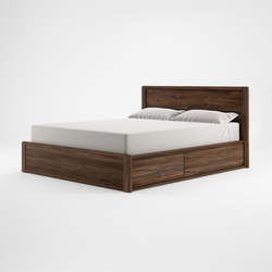 Circa17 QUEEN SIZE BED SOLID HEADBOARD | Doppelbetten | Karpenter