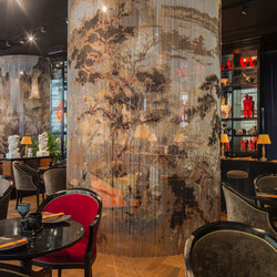 Space Divider Curved Restaurant | Metal meshes | Kriskadecor