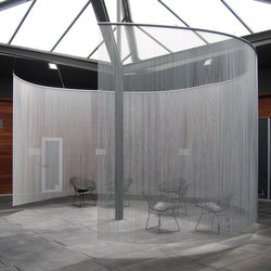 Space Divider Curved Spa | Metall Gewebe | Kriskadecor