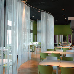 Space Divider Mobile Curved | Metall Gewebe | Kriskadecor