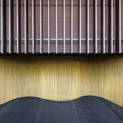 Wallcovering Curved Hall | Metal weaves / meshs | Kriskadecor