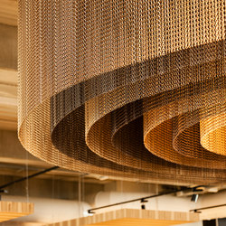 Ceiling Concentric Round | Metal weaves / meshs | Kriskadecor
