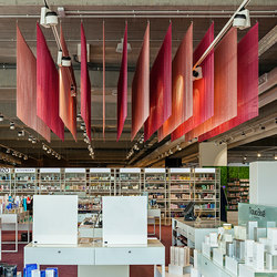 Ceiling Parallel Straight Pink | Metal meshes | Kriskadecor