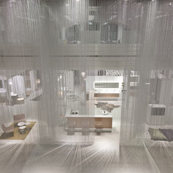 Ceiling Rainy Effect | Metall Gewebe | Kriskadecor