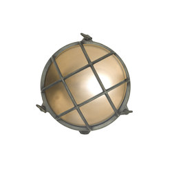 7027 Brass Bulkhead with Internal Fixing Points, Weathered Brass | Wall lights | Original BTC