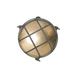 7028 Brass Bulkhead with Internal Fixing Points, Weathered Brass | Wall lights | Original BTC