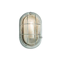 Oval Aluminium Bulkhead, with Guard for GLS Painted Silver | Éclairage général | Original BTC