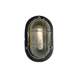 Oval Aluminium Bulkhead, with Guard for GLS, Painted Black | Wall lights | Original BTC
