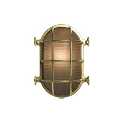 Oval Brass Bulkhead with Internal Fixing Points, Pol Brass | Appliques murales | Original BTC