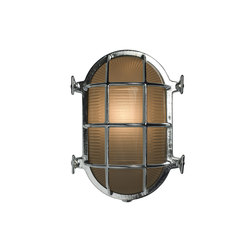 Oval Brass Bulkhead with Int. Fixing Points, Chrome Plated | Iluminación general | Original BTC