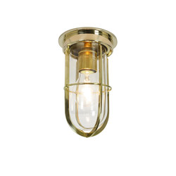 Ship's Companionway With Guard, Polished Brass, Clear Glass, E27 | Ceiling lights | Original BTC