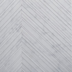 Chevron | Bianco Carrara | Natural stone panels | Salvatori