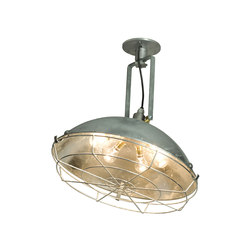 Steel Working Wall Light With Protective Guard, Galvanised | Suspended lights | Original BTC