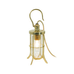 Ship's Hook Light, Clear Glass, Polished Brass | Table lights | Original BTC