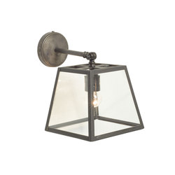 Quad Wall Light Internally Glazed, Weathered Brass, Clear | Wandleuchten | Original BTC