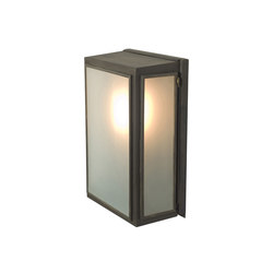 7641 Box Wall Light, External Glass, Small, Weathered Brass, Frosted | Wall lights | Original BTC
