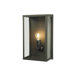 7645 Box Wall Light, Internally Glass, Medium, Weathered Brass, Clear | Lampade parete | Original BTC