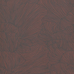 Wallpaper Coral - Bordeaux/Dark Blue | Carta da parati / carta da parati | ferm LIVING