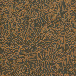 Wallpaper Coral - Dark Green/Gold | Wall coverings / wallpapers | ferm LIVING