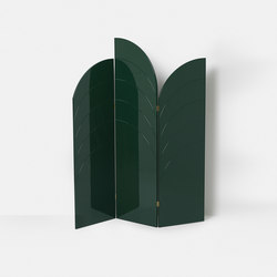 Unfold Room Divider - Dark Green | Éléments de séparation | ferm LIVING