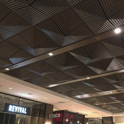 Grooved Quarter Pyramid Ceiling Tile | Mineralwerkstoff Platten | Above View Inc