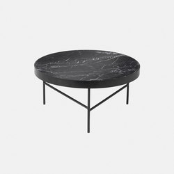 Marble Table - Black Marquina - Large | Mesas auxiliares | ferm LIVING