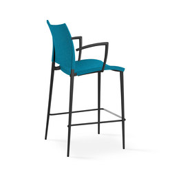Sand barstool with armrests | Bar stools | Desalto