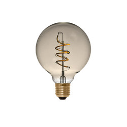 LED Globe 95 Curved Spiral golden | Light bulbs | Segula