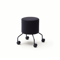Drop pouf on castors | Poufs | COR