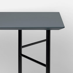 Mingle Table Top - Dusty Blue Linoleum - 135 cm | Materiales | ferm LIVING