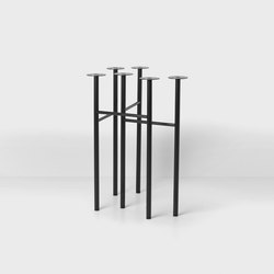 Mingle Trestles W48 - Black (Set of 2) | Caballetes de mesa | ferm LIVING