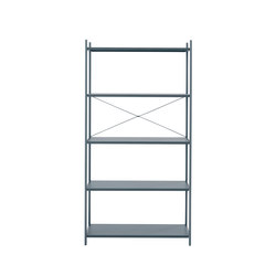 Punctual Shelving System -Dark Blue-1x5 | Regale | ferm LIVING