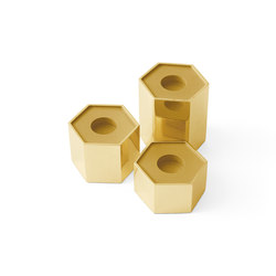 Candle Holders | Hexagonal | Bougeoirs | Gallotti&Radice