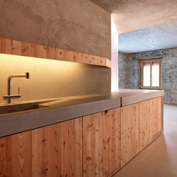Concrete Kitchen | Design Example | Concrete panels | Dade Design AG concrete works Beton
