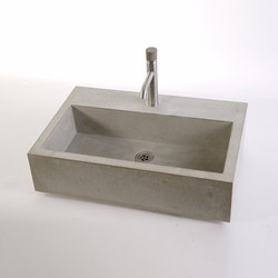 dade CASSA 60m concrete sink | Wash basins | Dade Design AG concrete works Beton