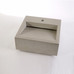 dade CUNEO 40m concrete sink | Wash basins | Dade Design AG concrete works Beton