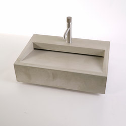 dade CUNEO 60m concrete sink | Wash basins | Dade Design AG concrete works Beton