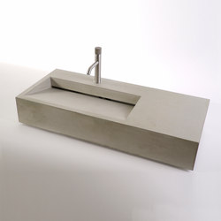 dade CUNEO 90m concrete sink | Wash basins | Dade Design AG concrete works Beton
