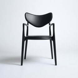 Salon Chair - Beech  Black | Sillas de visita | True North Designs