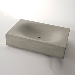 dade WAVE CUBED concrete sink | Wash basins | Dade Design AG concrete works Beton
