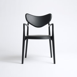 Salon Chair - Oak / Black | Visitors chairs / Side chairs | True North Designs